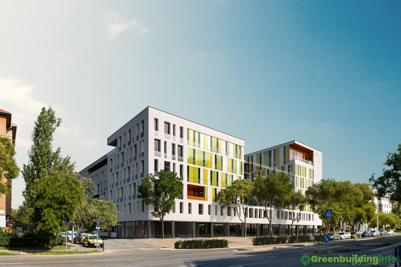 green office building. Bartók Udvar II. ütem Green Office Building